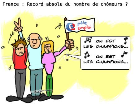 Céno Dessinateur - La Babole : Record du chômage en France